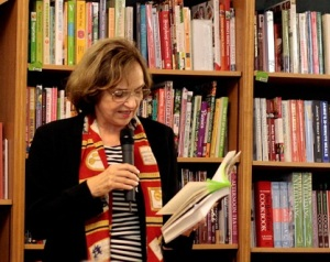 Author reading from That Paris Year at W.H. Smith's in Paris, 2012