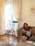 Joanna in apartment, rue Bonaparte