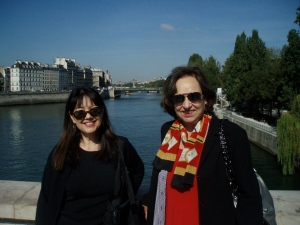 Linda and Joanna searching Paris for bags of cash.