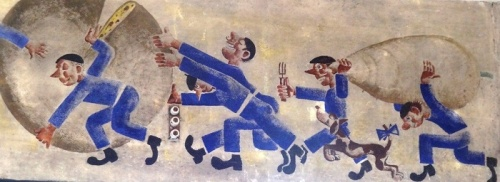 Mural from dining hall at Les Milles